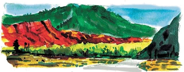 Vivid sandstone, history color Utah's Red Cliffs