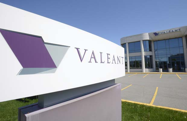 Valeant and gold miners help TSX rise in low-volume trade